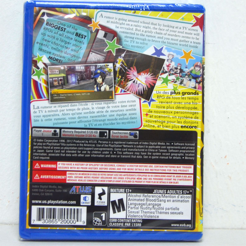 PS Persona 4: Golden Zone 1 US / English Version