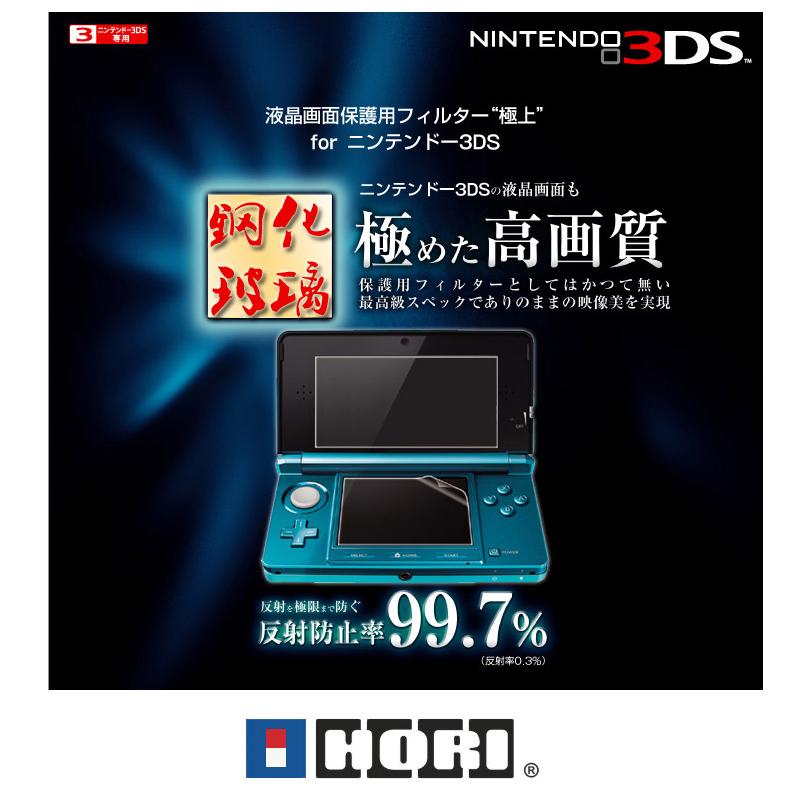 ฟิล์มกระจกกันรอย 2 ชิ้น สำหรับ 3DS ตัวเล็ก (รุ่นแรก) (HK)