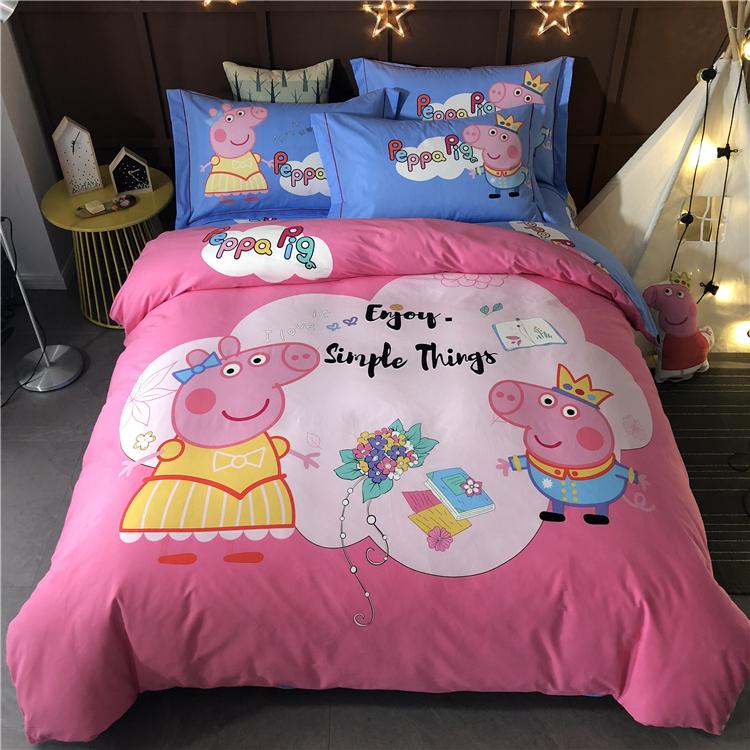 ผ้าปูที่นอนลายหมูสามตัว PeppaPig หมูเปปป้าพิก