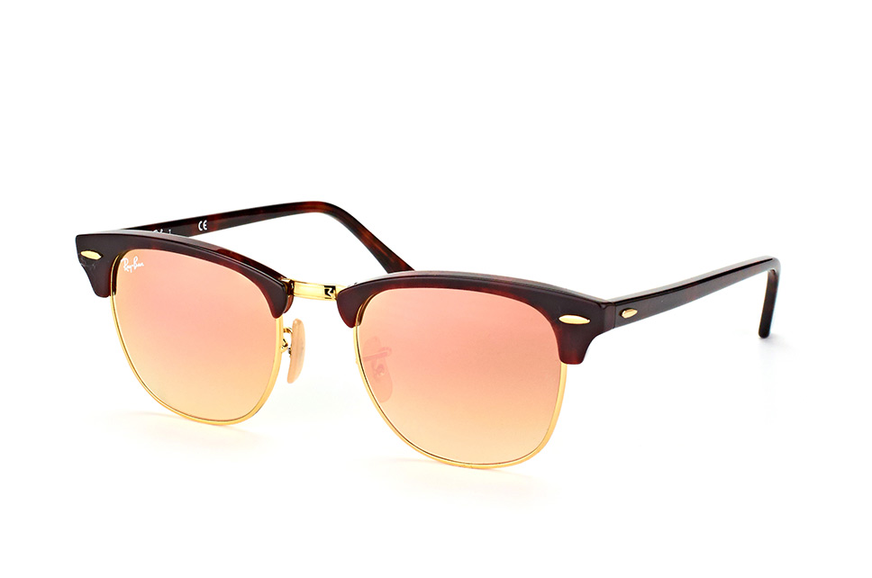Ray-Ban RB3016 990/7O Clubmaster Red Havana Copper Flash