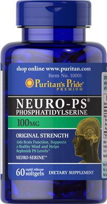 บำรุงสมองและประสาท Neuro-PS (Phosphatidylserine) 100 mg ขนาด 60 Softgels