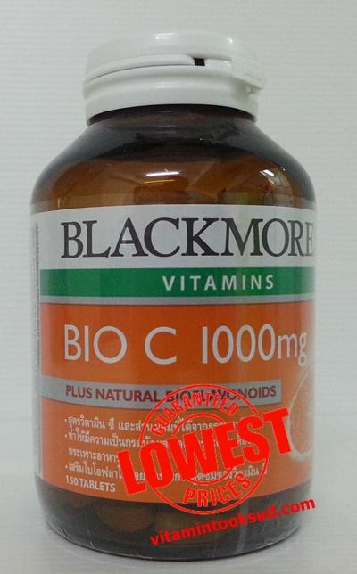 Blackmores Bio C 1000 mg. แบล็คมอร์ส ไบโอ ซี 1000 มก 150 เม็ด ถูกสุด ส่งฟรี