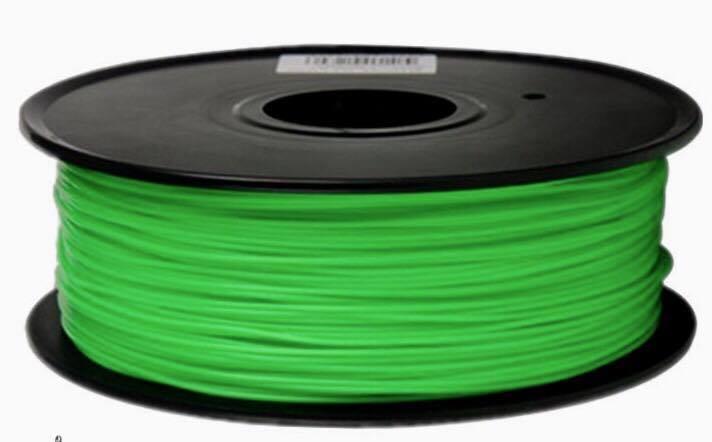 เส้นวัสดุ PLA ม้วนละ 1 กิโลกรัม (สีเขียว)