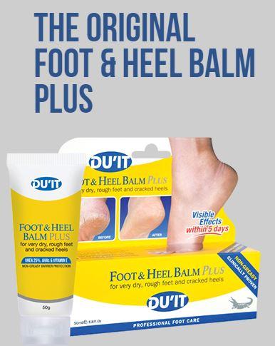 **พร้อมส่ง**DU'IT Foot & Heel Balm Plus ขนาดปกติ 50 g. ครีมสมานผิวส้นเท้าแตกยอดเยี่ยมใน 5 วัน สินค้าฮอตฮิตจากประเทศออสเตรเลีย ที่ว่ากันว่าใครที่ได้ไปเที่ยวที่นั่นจะต้องหาหอบหิ้วกันมาสต็อคกันเป็นกระเป๋าๆ เพราะสรรพคุณของเค้าเริ่ดมากๆ ดีจริง ประเภทส้น ,