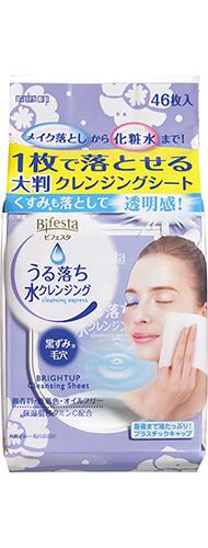 Bifesta Cleansing Sheet Brightup แผ่นเช็ดเครื่องสำอาง บีเฟสต้า 46 แผ่น