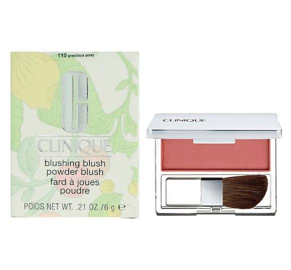 **พร้อมส่ง**Clinique Blushing Blush Powder Blush 6g. #110 Precious Posy บรัชออนสูตร Silky Powder ให้เนื้อละเอียด สีสันสดใส ชัดเจน พร้อมแปรงปัดรูปทรงพิเศษ อ่อนนุ่มทำจากขนสัตว์ชั้นดี ออกแบบให้ใช้งานง่าย มีปลายเรียวซึ่งจะช่วยปัดตามแนวโค้งและเพิ่มมิติแก่วงแก้