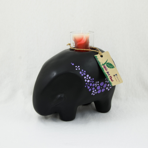 ช้างดำใส่เทียนหอม