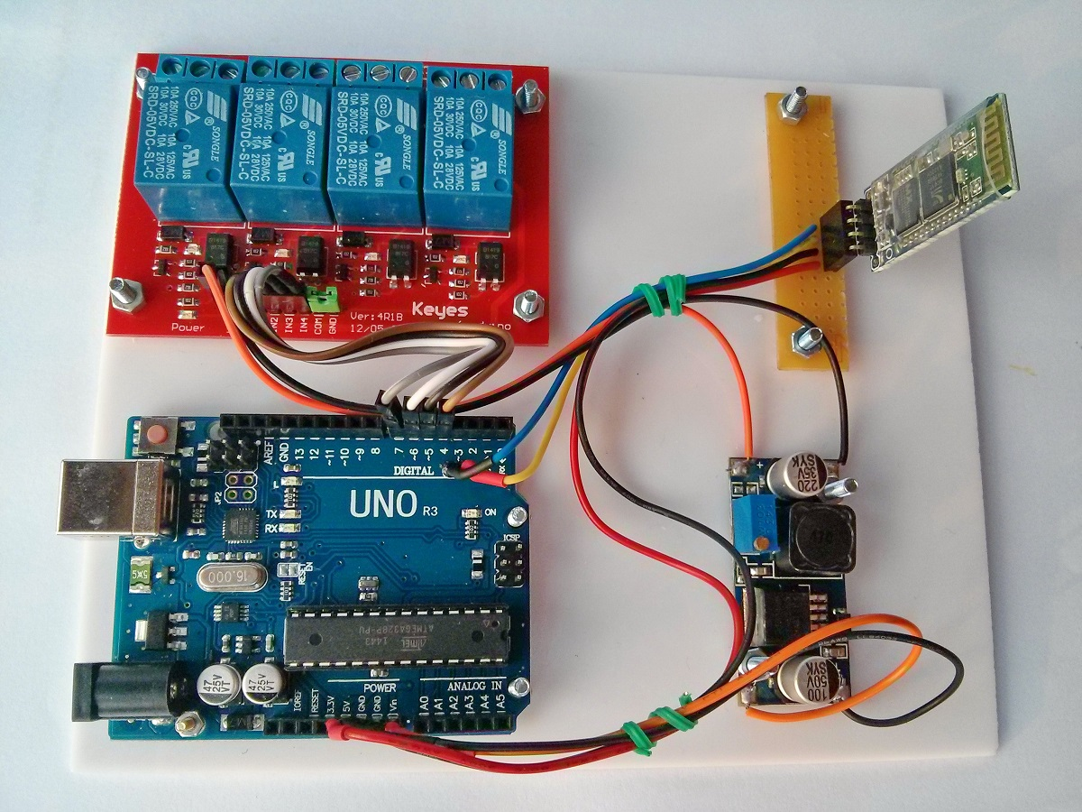 Android Arduino Bluetooth Control 4 Relays Kit