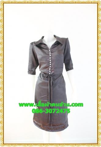 1981ชุดทํางาน เสื้อผ้าคนอ้วนกระดุมมุกเรียงแถวด้านหน้าชุดแขนยาวกระโปรงทรงเอหวานๆมีปกสุภาพเรียบร้อยสไตล์คลาสสิค