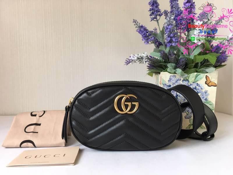 Gucci คาดเอว สีดำ งาน Hiend Original