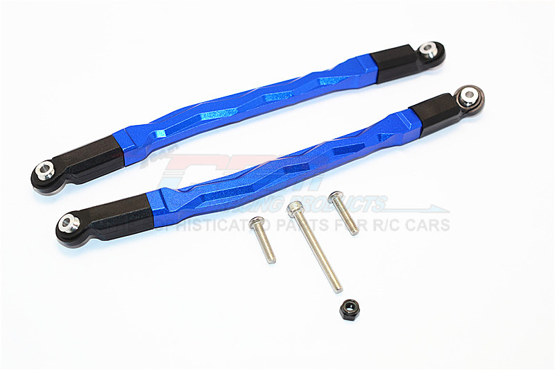 ALUMINIUM FRONT/REAR UPPER CHASSIS LINK PARTS - 1PR SET (FOR YETI, SMT10 MONSTER JAM AX90055, AX90057)