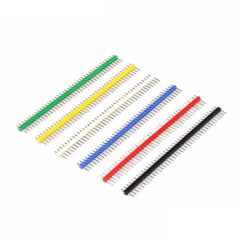 ก้างปลา 40 Pin 2.54 mm Pin Header Single Row Pin Male Header สีขาว