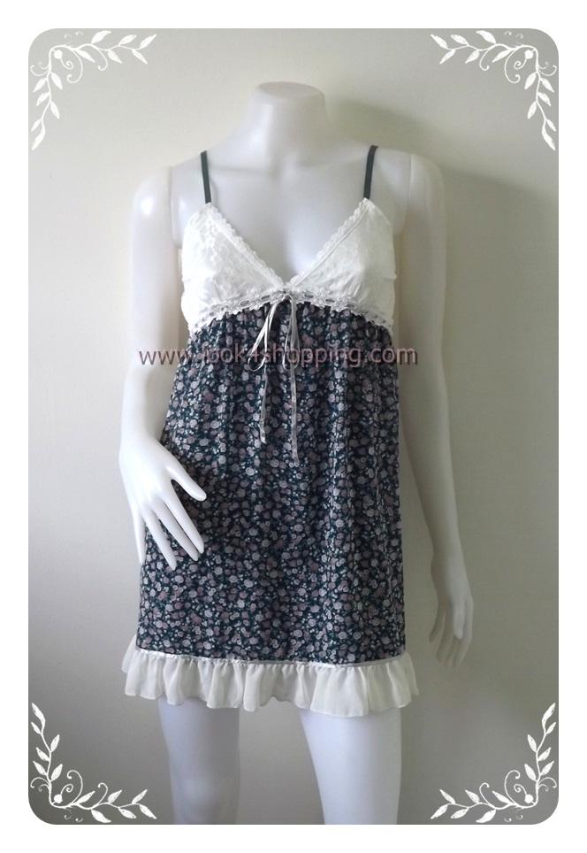"""Dress0399--เดรสแฟชั่น ชีฟอง สวยๆ """"อก 28-33 นิ้ว"""""""