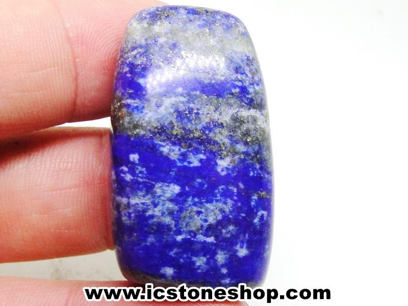 ▽ลาพิส ลาซูลี่ Lapis Lazuli ขัดมันขนาดพกพา (37g)
