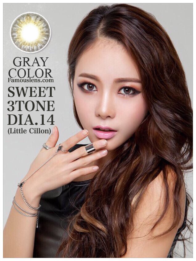 Sweet3Tone Gray Dia.14 Little Cillon Gray