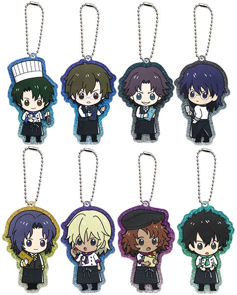 The New Prince of Tennis - Glittery Acrylic Charm Collection A 8Pack BOX(Pre-order)