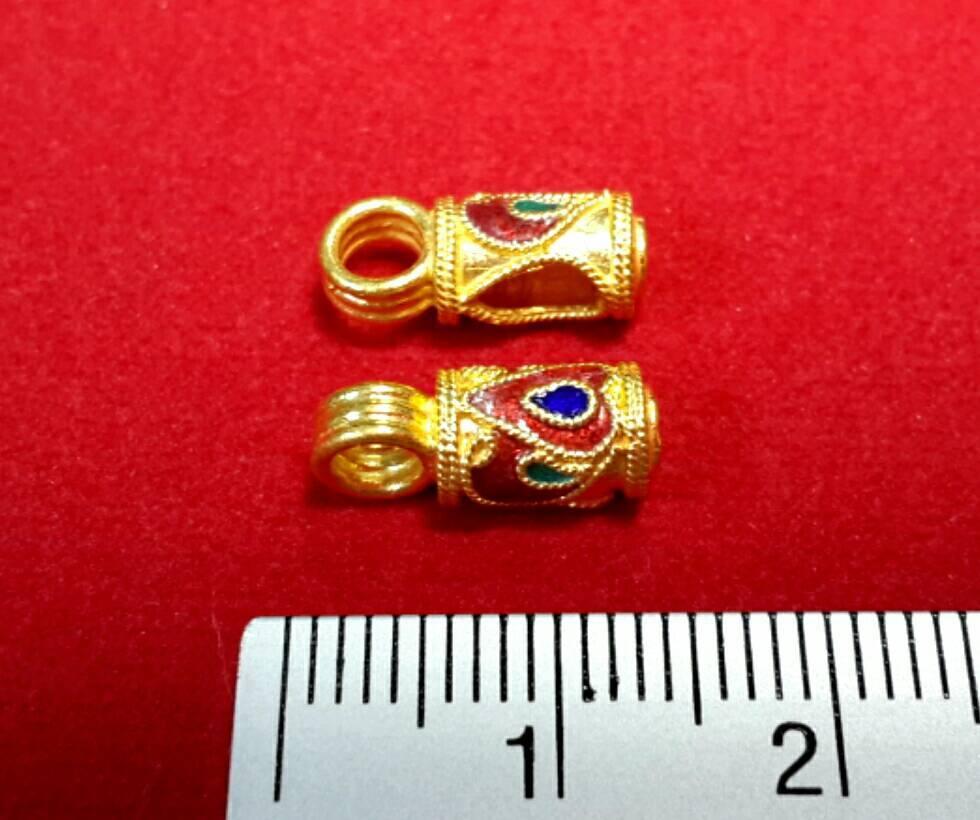 หัวจรวดลายสุโขทัย ทองคำแท้ 90% ขนาด 13 มิล