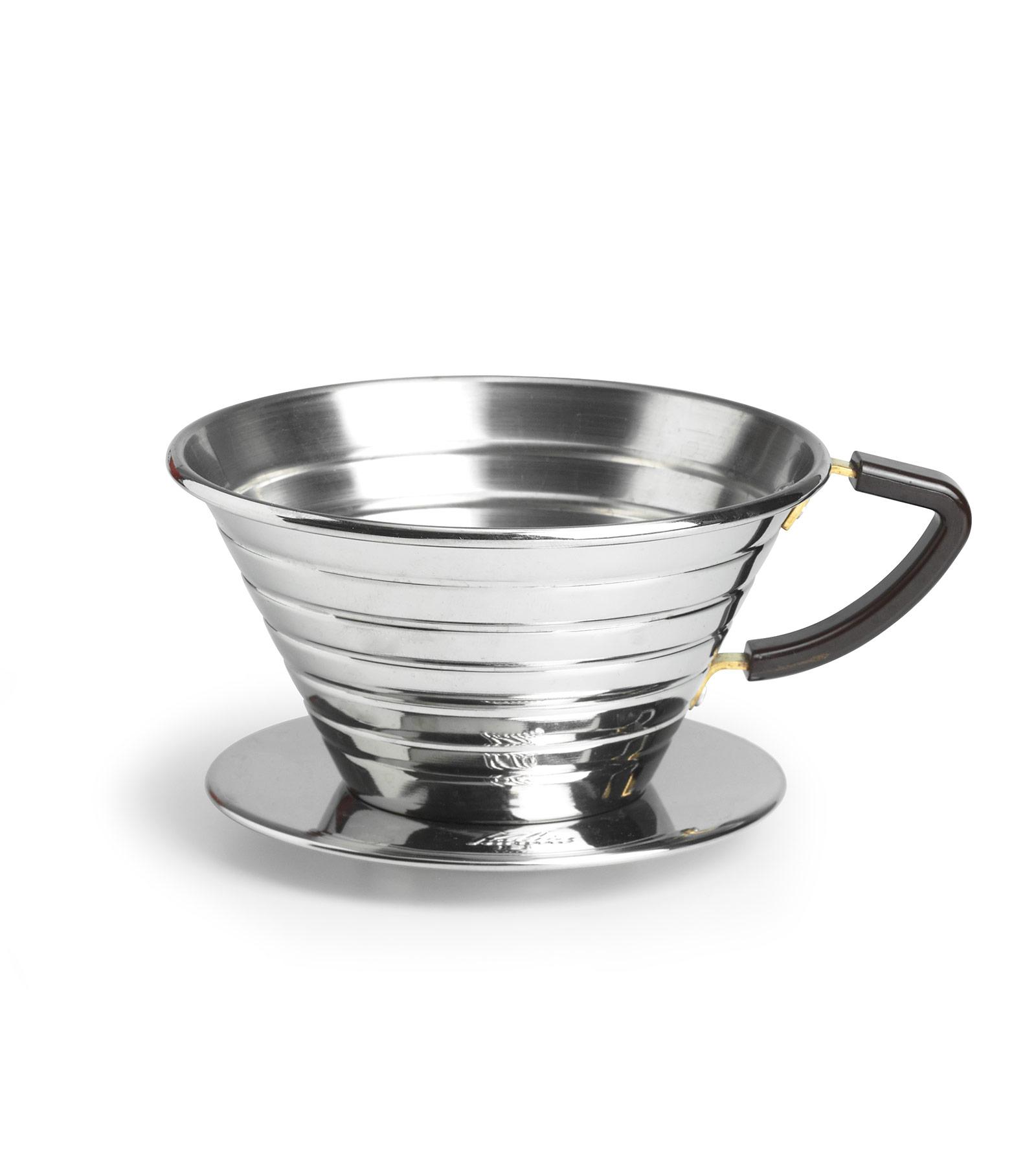 Kalita ถ้วยกาแฟดริป รุ่น 185 dripper stainless steel ขนาด 1-4 cups