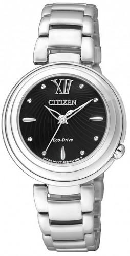 นาฬิกาข้อมือผู้หญิง Citizen Eco-Drive รุ่น EM0331-52E, Sapphire Elegant