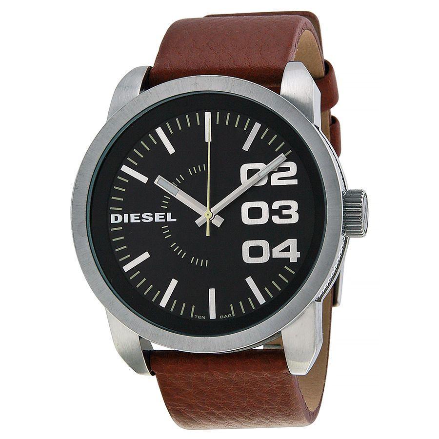 นาฬิกาผู้ชาย Diesel รุ่น DZ1513, Black Dial Tan Leather Strap
