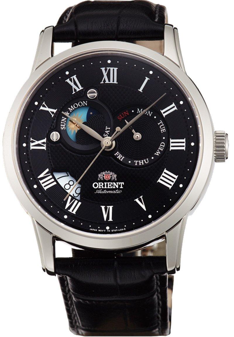 นาฬิกาผู้ชาย Orient รุ่น FET0T002B0, Classic Automatic Sun And Moon