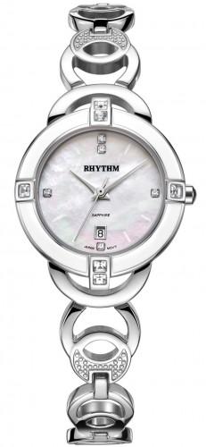 นาฬิกาผู้หญิง Rhythm รุ่น L1502S01, Diamond Sapphire L1502S 01, L1502S-01