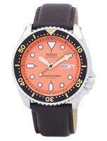 นาฬิกาผู้ชาย Seiko รุ่น SKX011J1-LS11, Automatic Diver's Ratio Dark Brown Leather 200M