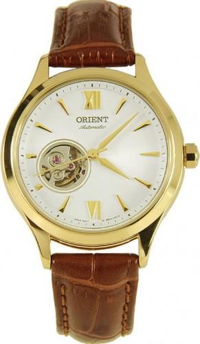 นาฬิกาข้อมือผู้หญิง Orient รุ่น SDB0A003W0, Open Heart Semi Skeleton Automatic