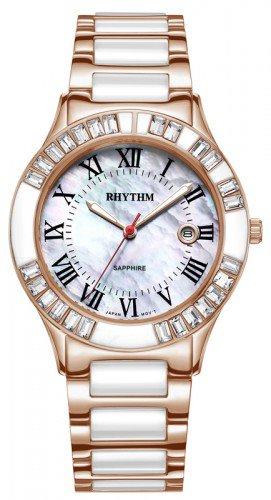 นาฬิกาผู้หญิง Rhythm รุ่น F1203T06, Sapphire Fashion Series Copper Tone F1203T-06, F1203T 06