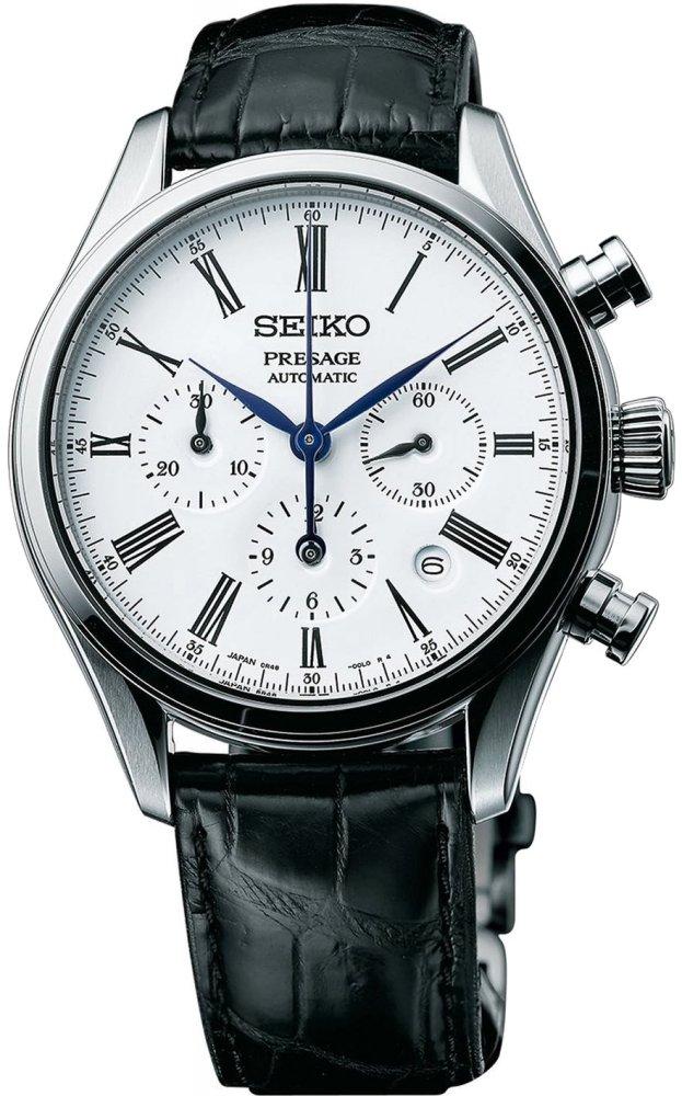 นาฬิกาผู้ชาย Seiko รุ่น SRQ023J1, PRESAGE Cocktail Automatic Multi-Dial Chronograph