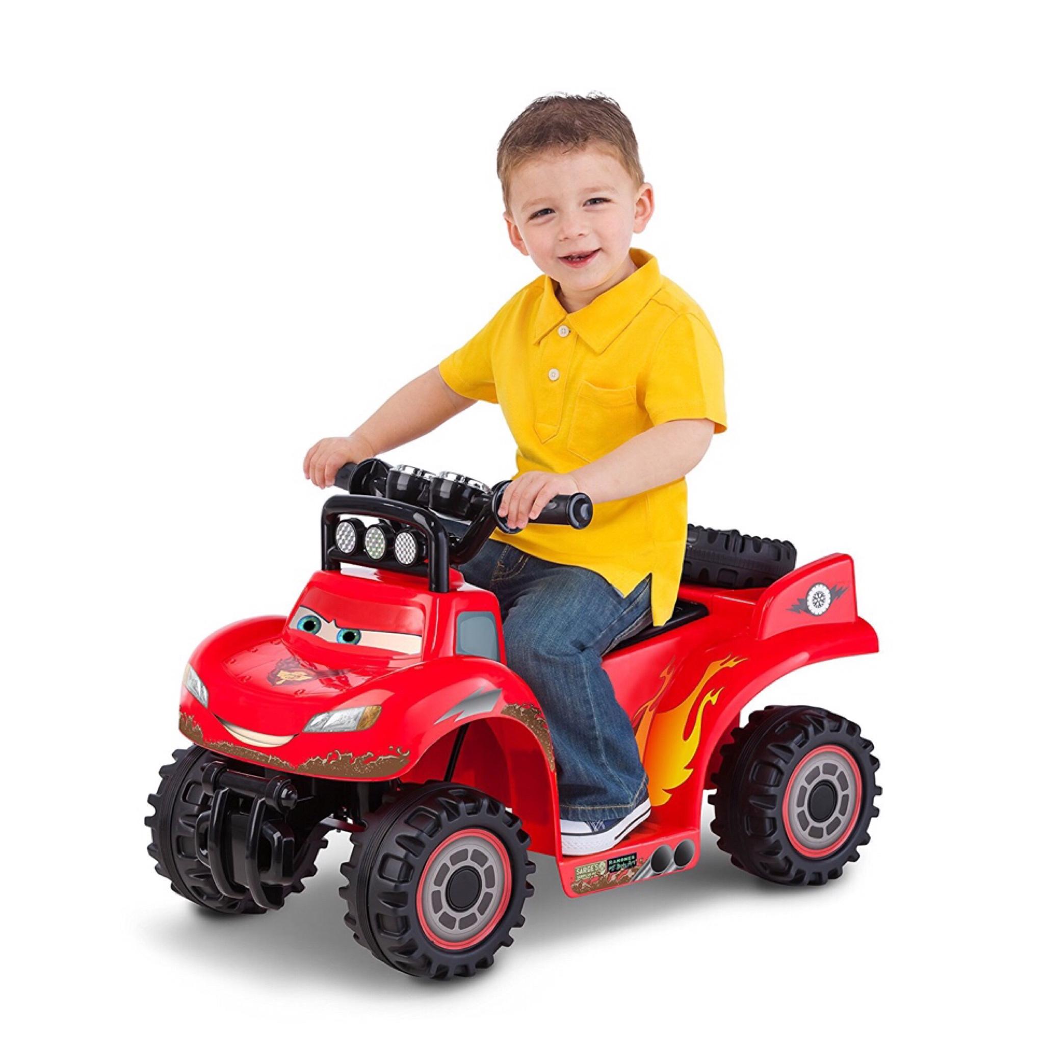 รถแบตเตอรี่สำหรับเด็กเล็ก Kid Trax Disney / Pixar Cars2 RS500 6V Quad Powered Ride-On