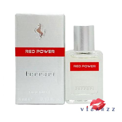 Ferrari Red Power EDT 4 mL แบบแต้ม น้ำหอมของชายหนุ่มที่มีความร้อนแรงและสนุกสนาน น่าอยู่ใกล้และครอบครองดั่งเช่นรถเฟอรารี่