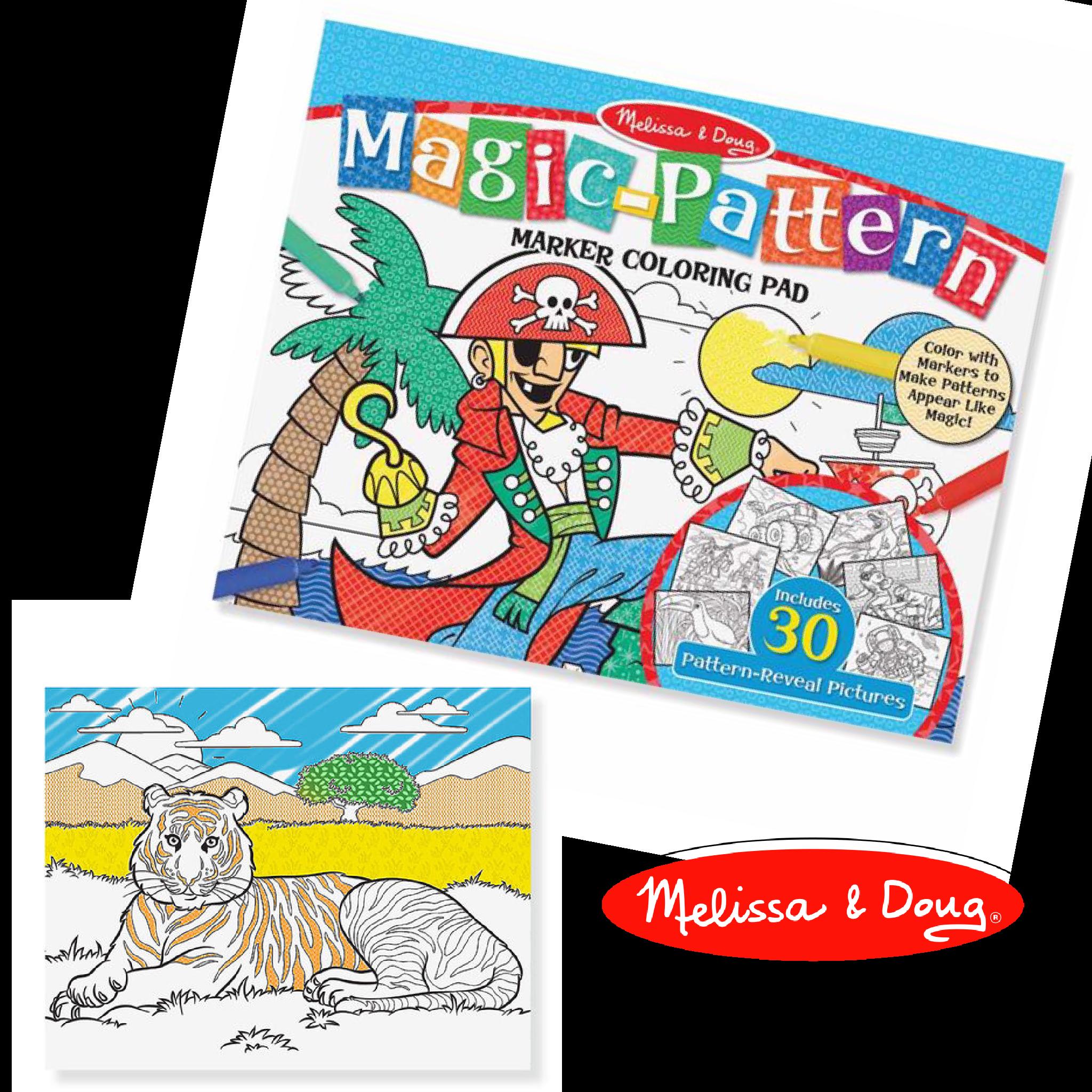 แผ่นภาพระบายสีมหัศจรรย์ Melissa & Doug รุ่น Magic Pattern Marker Coloring Pad (Blue)