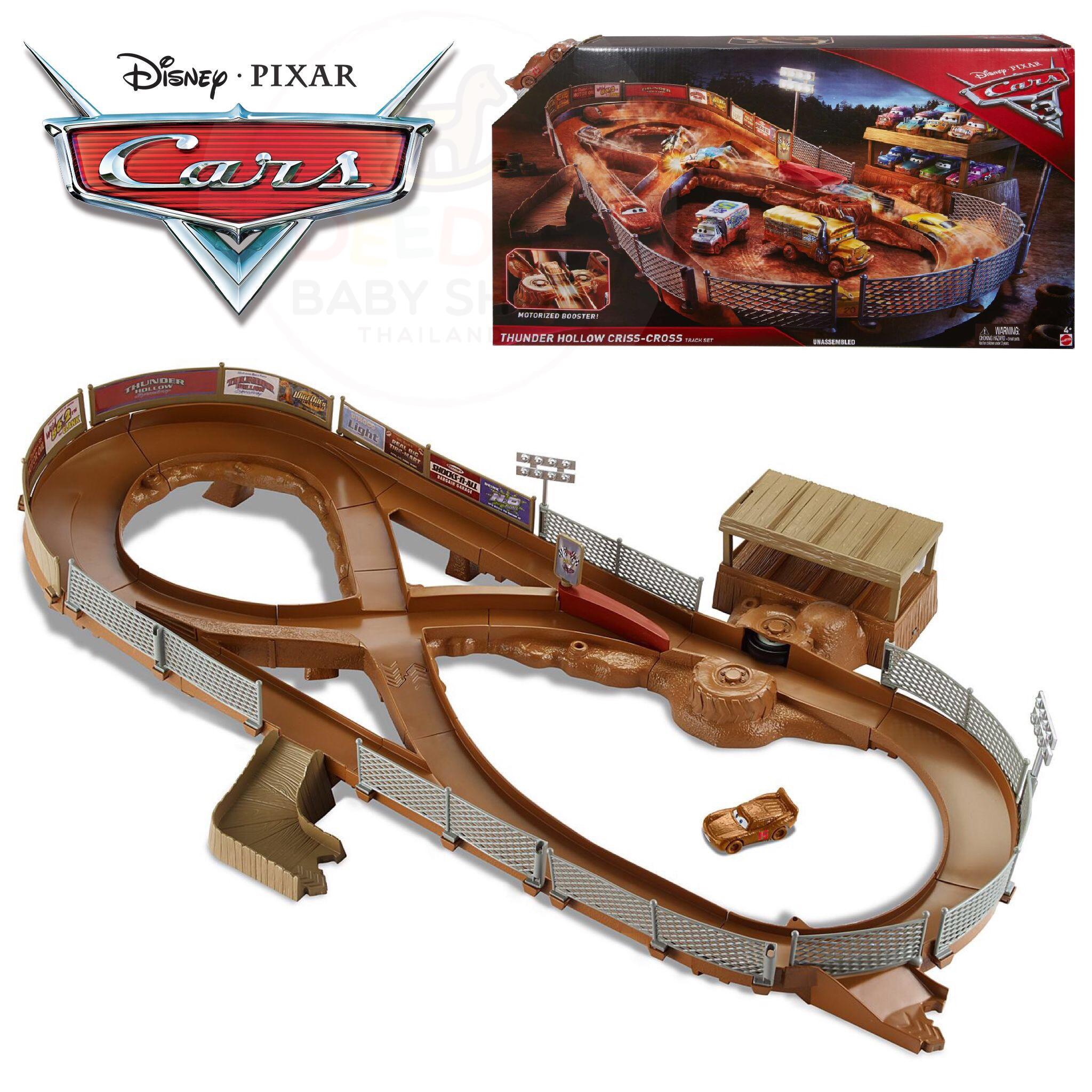 ชุดสนามแข่งรถจำลอง Mattel Disney Pixar Cars 3 Thunder Hollow Criss-Cross Track Set