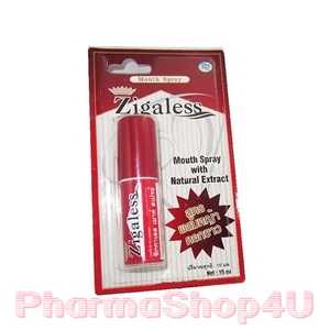 Zigaless Mouth Spray 15ml ซิกกาเลส สเปรย์ดับกลิ่นปาก และลดความอยากบุหรี่ ด้วยสารสกัดจากหญ้าดอกขาว