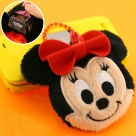 พวงกุญแจกระเป๋า Minnie Mouse ขนาดเล็กกระทัดรัด