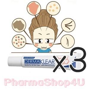 (ซื้อ3 ราคาพิเศษ) Dermaklear gentle for all skin type 15g เดอร์มาเคลียร์ ครีมสมุนไพร ลดการอักเสบของผิว ลดสิว รอยแดง รอยดำ ฝ้า กระ