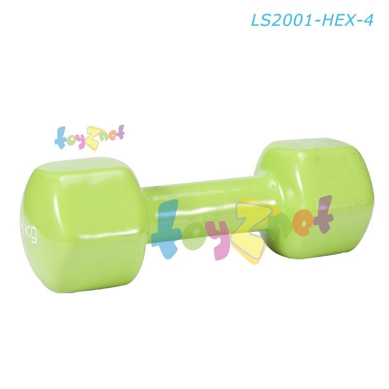 Liveup ดัมเบลล์ไวนิล หกเหลี่ยม 4 กก. รุ่น LS2001-HEX-4