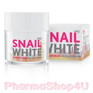 Snail White Concentrate Facial Cream 50mL นามุ ไลฟ์ สเนลไวท์ คอนเซนเทรท ครีม ครีมบำรุง เมือกหอยทาก สูตรเข้มข้น