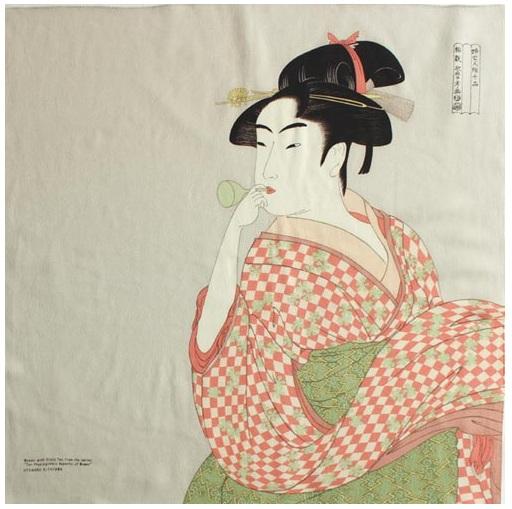 ผ้าห่อเบนโตะ Furoshiki ลาย Utamaro Kitagawa