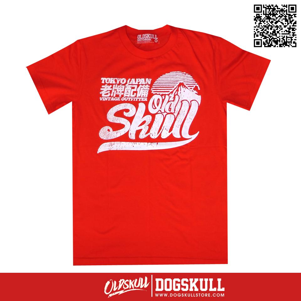เสื้อยืด OLDSKULL : ULTIMATE   RED