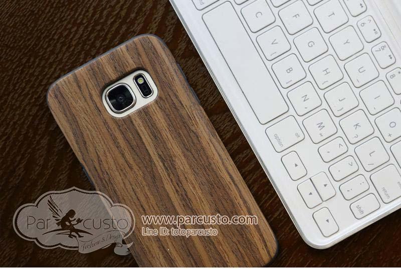 เคสกันกระแทก Samsung Galaxy S7 Edge [Wood] จาก ROCK [หมด]