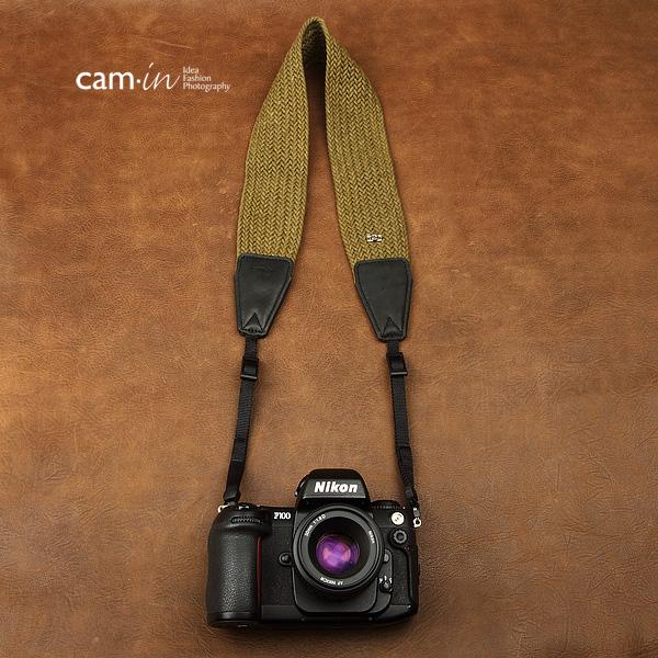 สายคล้องกล้องเส้นใหญ่สีเขียวแก่ cam-in Grand Green