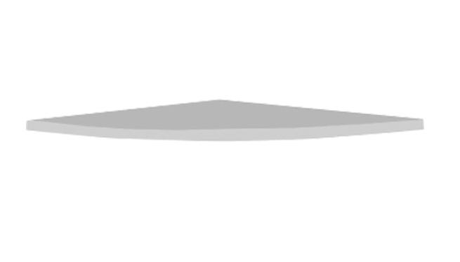 แผ่นต่อหน้าโต๊ะเข้ามุม 60x60 ซม. ITE-6060