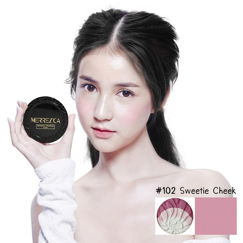 MerrezCa Mineral Pearls Blush เบอร์ 102