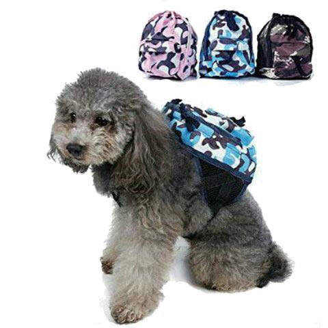 กระเป๋าเป้สุนัขลายทหาร