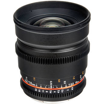 Bower 16mm T2.2 Cine Lens for Canon EF Mount