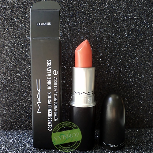 MAC LipStick # Ravishing : Clean light peachy coral (Cremesheen)