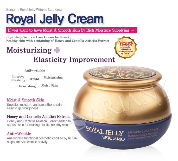 Bergamo The Moselle Royal Jelly Wrinkle Care Cream 50g.