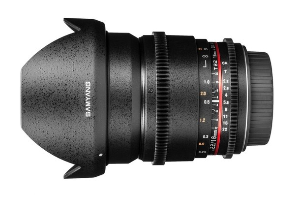 Samyang 16mm T2.2ED AS UMC CS VDSLR Lens